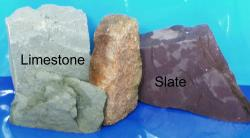 Picture of different types of rock