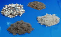 Picture of different gravels and sands